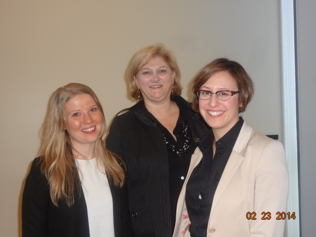 Left to Right: Anna Leggett, Nancy Henderson (coach) and Robin Nobleman